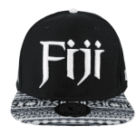 Fiji Snapback Hat Black – Front View