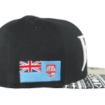 Fiji Snapback Hat Black – Left Side View