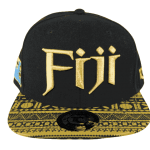 Fiji Snapback Hat Gold&Black – Front View