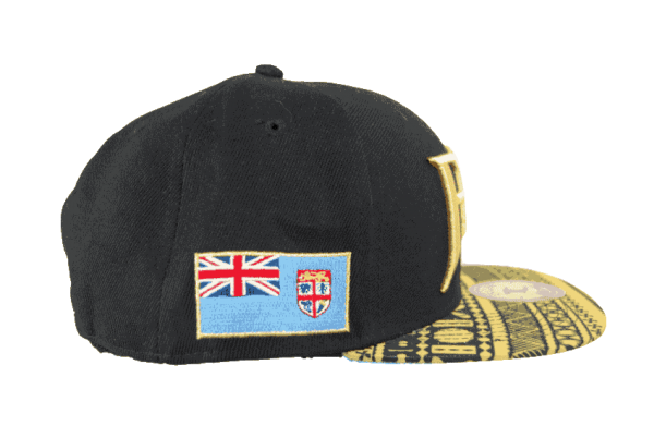 Fiji Snapback Hat Gold&Black – Left Side View