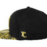 Fiji Snapback Hat Gold&Black – Right Side View