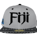 Fiji Snapback Hat White – Front View