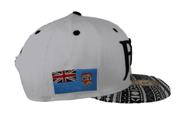 Fiji Snapback Hat White – Left Side View