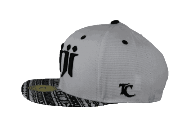 Fiji Snapback Hat White – Right Side View