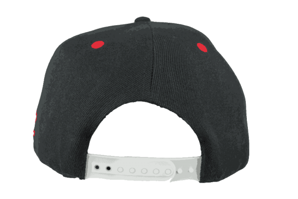 Maori Black Snapback Cap With Red Amp White Embroidery Black
