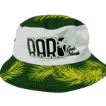 Raro Cook Island Yellow Leaf Brim Bucket Hat- Front View