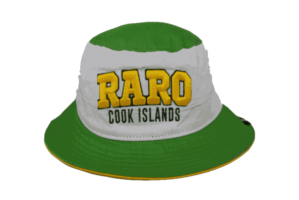 b2509834210 Raro Cook Island White Bucket Hat with Yellow Embroidery - Green ...