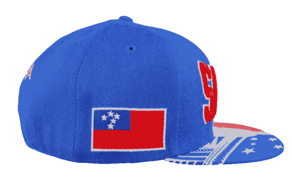 Samoa Snapback Hat Blue – Left Side View
