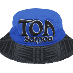 Toa Samoa Blue Black Pattern Bucket Hat – Front View