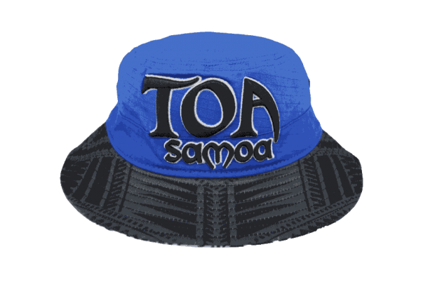 b6738f277d4 Toa Samoa Blue Bucket Hat with Black Embroidery – Black Brim – Tuff ...