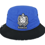 Toa Samoa Bucket Hat Blue&Black – Back View