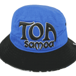 Toa Samoa Bucket Hat Blue&Black – Front View