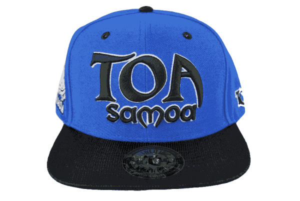 Toa Samoa Word Cup Snapback Hat – Front View