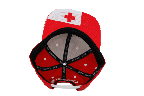 Tonga Snapback Hat Red – Inside View