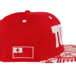 Tonga Snapback Hat Red – Left Side View