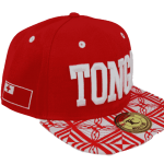 Tonga Snapback Hat Red – Side View