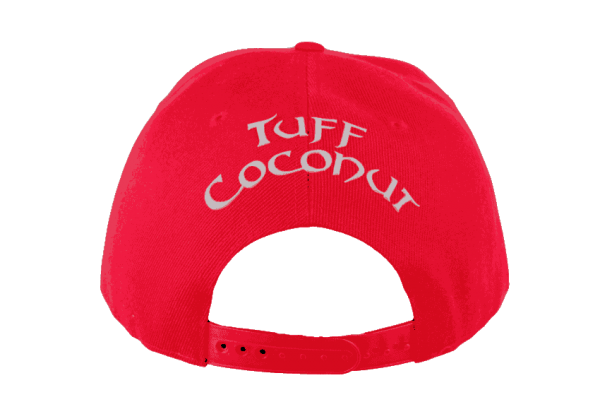 Tuff Coconut Snapback Hat Red- Back View