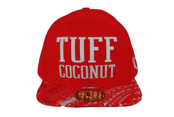 Tuff Coconut Snapback Hat Red- Front View