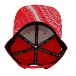 Tuff Coconut Snapback Hat Red- Inside View