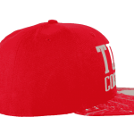Tuff Coconut Snapback Hat Red- Left Side View