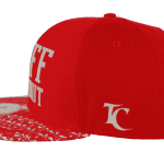 Tuff Coconut Snapback Hat Red- Right Side View