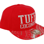 Tuff Coconut Snapback Hat Red- Side View