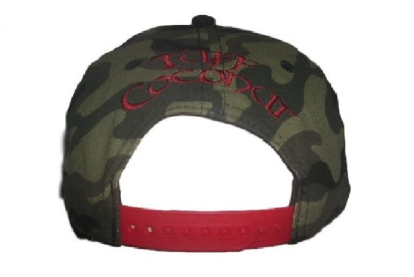 Toa Samoa Camo Rugby League Baseball Cap with Red Embroidery- back view