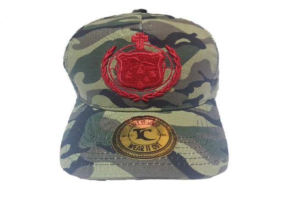 Toa Samoa Camo Rugby League Baseball Cap with Red Embroidery- front view image 2