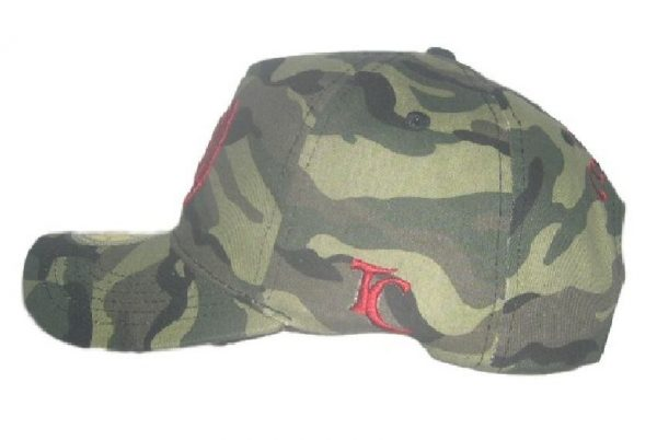 Toa Samoa Camo Rugby League Baseball Cap with Red Embroidery- side view