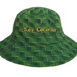 0a6314459aa Cook Island White   Green Bucket Hat with Embroidery – Pattern Brim ...