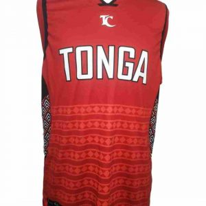 tonga singlet shirt red front view
